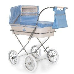 Light blue rain cover for Bebelux doll pram