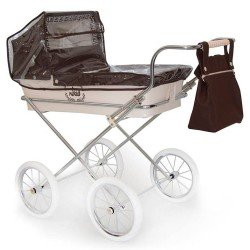 Chocolate colour rain cover for Bebelux doll pram