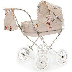 Beige rain cover for Bebelux round doll pram