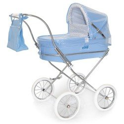 Light blue rain cover for Bebelux round doll pram