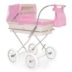 Pink rain cover for Bebelux doll pram