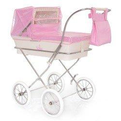 Pink rain cover for Bebelux doll pram