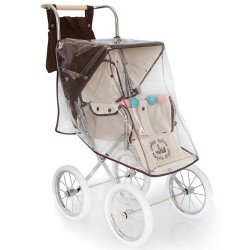 Chocolate colour rain cover for Bebelux Big doll pushchair