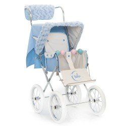 Light blue winter kit for Bebelux Big doll pushchair