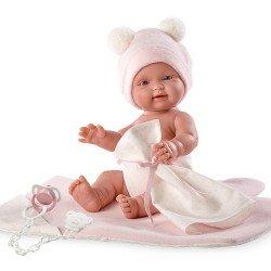Llorens doll 26 cm - Bebita with pink changing mat