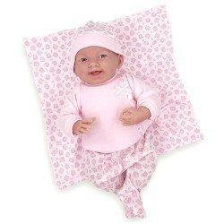 Muñeco Berenguer Boutique 39 cm - La newborn 18788 con conjunto gatitos rosa, mantita y accesorios
