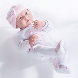 Berenguer Boutique - La newborn 18055 (girl) with pajamas with pink heart doll