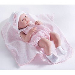 Berenguer Boutique - La newborn 18109 (girl) doll with pink outfit and blanket