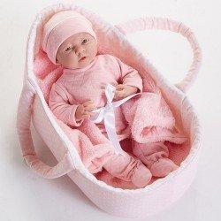 Berenguer Boutique doll 39 cm - 18785 La newborn with baby basket