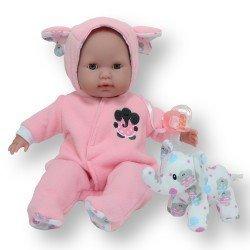 Berenguer Boutique doll 38 cm - With pink elephant pyjamas