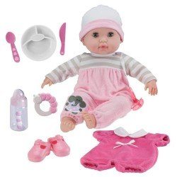Berenguer Boutique doll 38 cm - With pink pyjamas and accessories