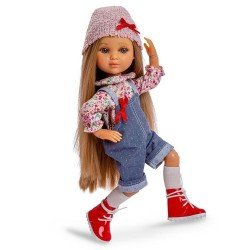Berjuan doll 35 cm - Luxury Dolls - Eva articulated with denim overalls