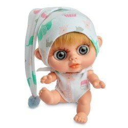 Berjuan doll 14 cm - Baby Biggers blonde with giraffes