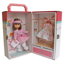 Berjuan doll 22 cm - Boutique dolls - Irene brunette with closet and dress