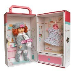 Berjuan doll 22 cm - Boutique dolls - Irene red haired with closet and dress