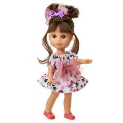 Berjuan doll 22 cm - Boutique dolls - Luci with bun and bow dress