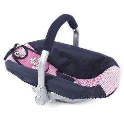 Car Seat for dolls of 46 cm - Bayer Chic 2000 - Pink and Navy