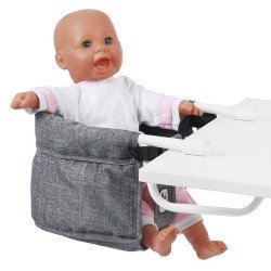 Lifted chair for table for dolls to 60 cm - Bayer Chic 2000 - Grey denim