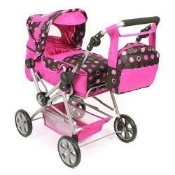 Road Star doll pram 82 cm - Bayer Chic 2000 - Pinky Balls