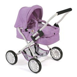 Smarty small pram 57 cm for dolls - Bayer Chic 2000 - Lilac