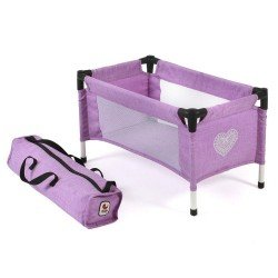 Travel crib for dolls to 45 cm - Bayer Chic 2000 - Lilac
