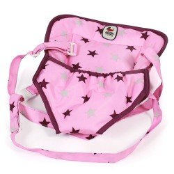 Baby doll carrier - Bayer Chic 2000 - Raspberry-pink stars
