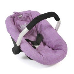 Car Seat for dolls of 46 cm - Bayer Chic 2000 - Lilac