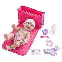 Designed by Berenguer doll 33 cm - La Newborn - Diaper bag gift set