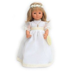 D'Nenes doll 34 cm - Marieta communion with beige lace edging