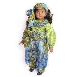 D'Nenes doll 72 cm - Nany with blue-green dress