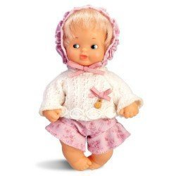 Barriguitas Classic doll 15 cm - Blonde baby girl with jersey