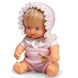 Barriguitas Classic doll 15 cm - Blonde baby girl with romper