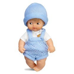 Barriguitas Classic doll 15 cm - Blonde baby boy with romper