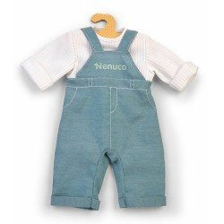 Nenuco doll Outfit 42 cm - Blue overalls with white shirt