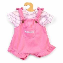 Nenuco doll Outfit 42 cm - Pink overalls with striped shirt