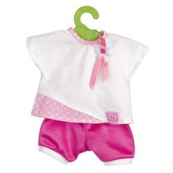 Nenuco doll Outfit 35 cm - White t-shirt and fuchsia trousers