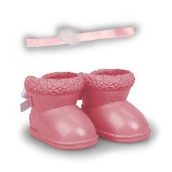 Shoes and accessories for Nenuco doll 35 cm - Pink winter boots with headband