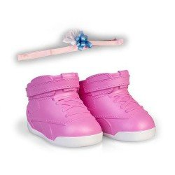 Shoes and accessories for Nenuco doll 35 cm - Pink sneakers with headband