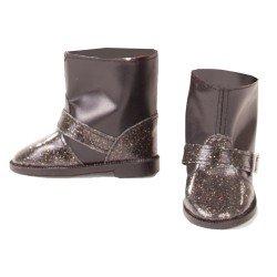 Götz doll Complements 42-50 cm - Black glitter boots