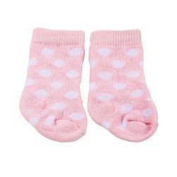 Götz doll Complements 42-50 cm - Pink socks with white spots