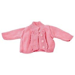 Götz doll Outfit 42-50 cm - Pink knitted cardigan