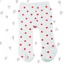 Götz doll Complements 36-50 cm - Off white tights with hearts