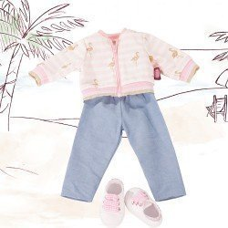 Götz doll Outfit 45-50 cm - Combo Golden Flamingo