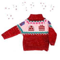 Götz doll Outfit 45-50 cm - Winter red sweater