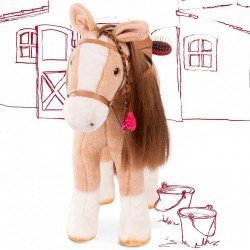 Light brown horse for Hannah doll Götz brand 50 cm