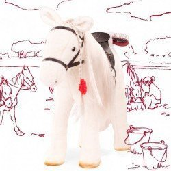 White horse for Hannah doll Götz brand 50 cm