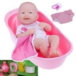 Designed by Berenguer doll 36 cm - La Newborn - Newborn bath set