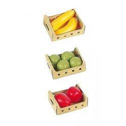 Klein 9681 - Set de Plátanos, ciruelos y manzanas juguete