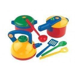 Klein 9188 - Surtido de ollas juguete Emmas kitchen
