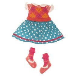 Lalaloopsy doll Outfit 31 cm - Rhombuses and polka dots dress